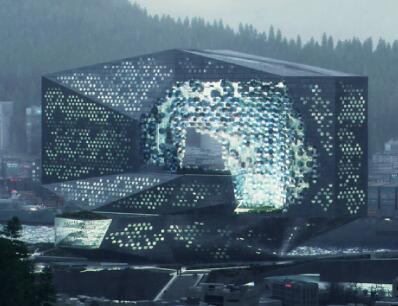 未来科技感建筑效果图