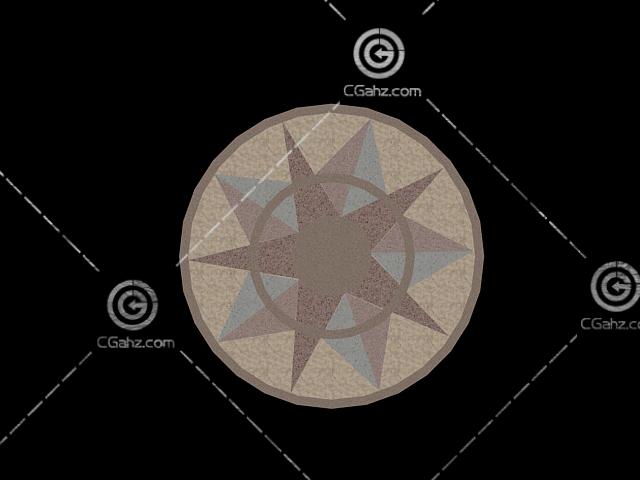简单的圆形铺地3d模型下载